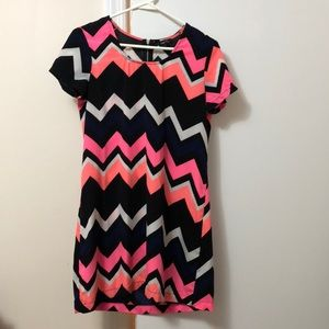 Chevron Pattern Bright Color Summer Dress